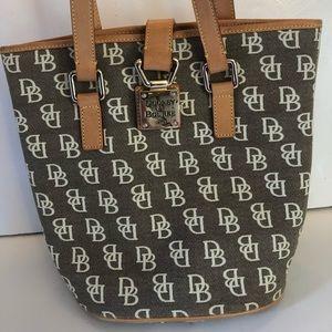 Dooney & Bourke Signature Bucket Bag Grey